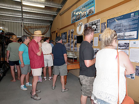 Vistors at the Paynesville Maritime Museum Display Centre